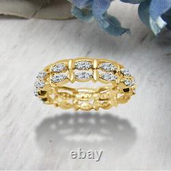 0.38 Ct Diamond Round 10k Or Yellow Vintage Art Deco Wedding Band