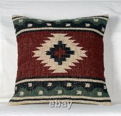 10 Pieces Vintage Kilim Taie Pillow 18x18 Hand Woven Jute Rug Rustic Cushion