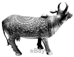 11 Metal Sculpture Statue Cow Vintage Look Home Decor Art Statue