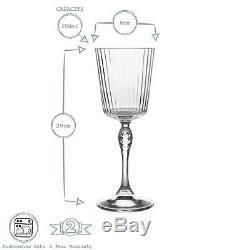 12x 20s American Cocktail Glasses Vintage Art Deco Cocktail Glass 250ml