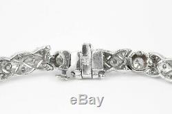14k 2.15tcw Vintage Diamond Tennis Bracelet 14k, Art Deco Diamond Bracelet