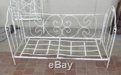 1900 Old Bed, Bench, Sofa Vintage Art Nouveau Metal, Antique Bed, Bench