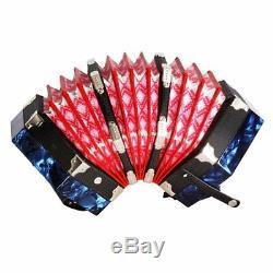 1pc Vintage 20 Key Art Blue Form Hexagonal Musical Instruments Accordion Tp