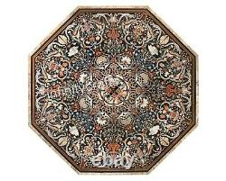 213cm Elegant Table Table Top Black Coffee Table With Vintage Art And Crafts