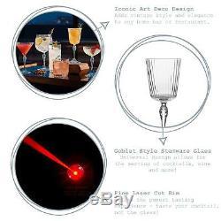 24x 20s American Cocktail Glasses Vintage Art Deco Cocktail Glass 250ml