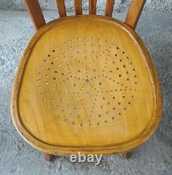 2 Baumann 1950 Vintage Bistrot Chairs Star No Thonet, No Fischel