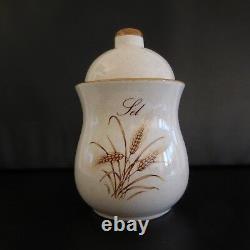 2 Cups Salt Cooking Pots Wheat Ears Art Nouveau Art Deco Vintage France