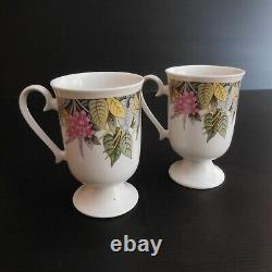 2 Mullets Coffee Cups Ceramic Porcelain Vintage Art Deco New N4212 Korea