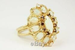 5.38tcw Art Deco Opal Vintage Ring Coktail Grand Show Stopper Ring