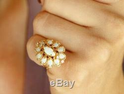 5.38tcw Opal Art Deco Vintage Cocktail Ring Grand Ring Presentation D Stop