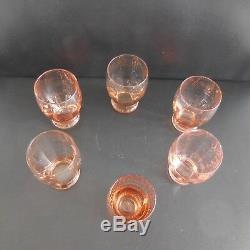 6 Water Glasses Art Nouveau Vintage Art Deco France 1920 1930