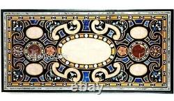91.4x183cm Black Dining Room Table Marble Patio Desk Table Top Art Vintage
