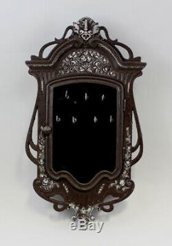 9937360-dss Cabinet Fonte Iron Keys Mural Art Nouveau Rustic Vintage