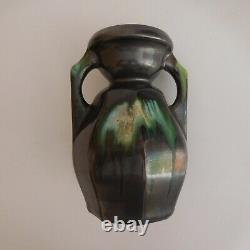 Amphora Vase Ceramic Pottery Handmade New Vintage Art Deco Belgium N6357