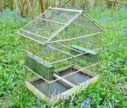 Ancienne Grande Cage A Oiseaux In Peinted Wood Circa 1900, Vintage Deco