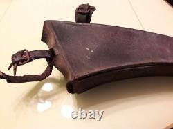 Ancient Bicycle Tool Bag 1900/1910 Art Nouveau Vintage Leather Bag