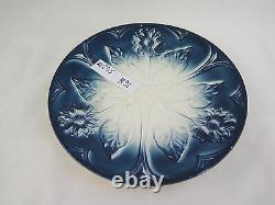 Ancient Ceramic Plate Art Nouveau Premier Xxe Century Vintage 1900 R91
