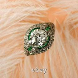 Ancient Edwardian Vintage Art Deco Engagement Ring 925 Silver Ring