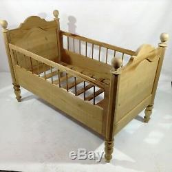 Ancient Gründerzeit Bed Children Dolls Wiege Bed Vintage Art Nouveau Furniture