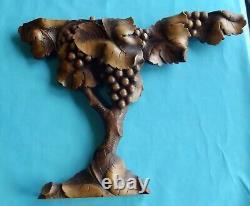 Ancient Sculpture Made Main Period Art Nouveau Vine Grape Cluster Vintage D