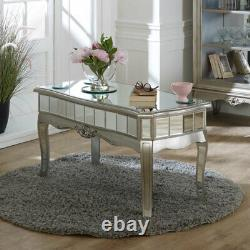 Antique Silver Copié Coffee Table Vintage Art Deco French Luxury Glamour