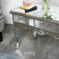 Antique Silver Copied Coffee Table Vintage Art Deco French Luxury Glamour