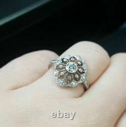 Antique Vintage Art Deco Engagement Ring 925 Silver Ring
