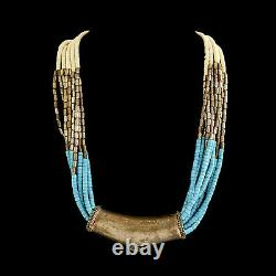 Antique Vintage Art New Plaqué Silver Yemeni Tribal Ethnic Necklace