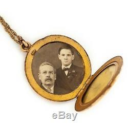 Antique Vintage Art Nouveau 14k Gold Filled Gf Chased S Monogram