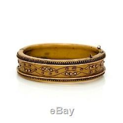 Antique Vintage Art Nouveau 14k Gold Filled Gf Etruscan Wedding Bracelet