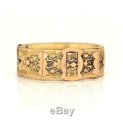 Antique Vintage Art Nouveau 14k Gold Filled Gf Size Savings Wedding Bracelet