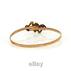 Antique Vintage Art Nouveau 14k Rose Gold Filled Bracelet Gf Jugendstil
