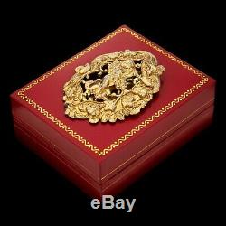 Antique Vintage Art Nouveau 14k Yellow Gold Filled Gf Cherub Sash Clamp 27.7g