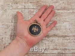 Antique Vintage Art Nouveau Sterling 84 Russian Silver Diamond Ruby 6.3cm
