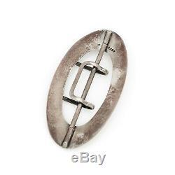 Antique Vintage Art Nouveau Sterling Silver Unisex Huge Scarf Cape Buckle