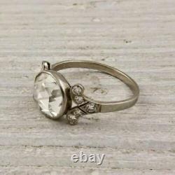 Art Deco 2.50ct Round Diamond 925 Silver Vintage Engagement Ring