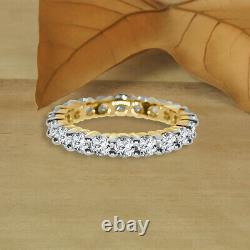 Art Deco 3.00 Ct Diamond Round 10k Or Yellow Vintage Anniversary Wedding Band