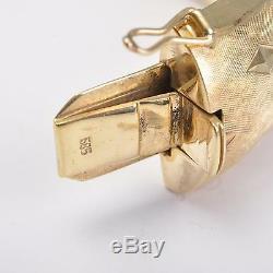 Art Deco Vintage Bracelet Oval, Gold Bracelets 585er / 14 Carats Gold 75g