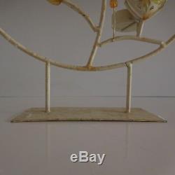 Art Glass Candlestick Metal Candle Holder Sculpture New Vintage Art Deco Handmade