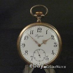 Art Longines New Niello Silber Pocket Gold Plated Caliber 19-75 N From 1911