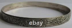 Art New Beauty Vintage Sterling Silver Floral Grand Strap Bracelet