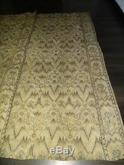 Art Nouveau Curtain Old Fabric Wall Hanging Tapestry Deco Vintage 120x240cms