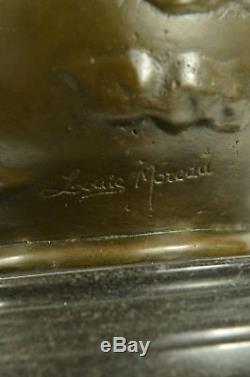 Art Nouveau Louis Auguste Moreau Reproduction Vintage Bronze Patina Vase Art