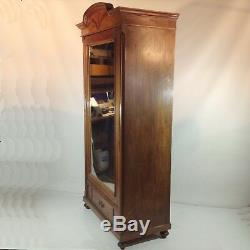 Art Nouveau Mahogany Wardrobe / Vintage Gründerzeit Dinnerware Set