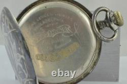 Art Nouveau Pocket Watch 50mm Rar To Manually Vintage