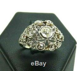 Art Nouveau Ring 10 Years Liberty Massif Gold 18 Kt Vintage Natural Diamonds