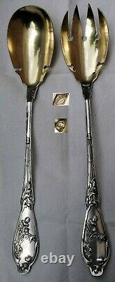 Art Nouveau Salad Cutlery In Silver Massif Stamp Of Boulenger Orfèvre