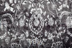 Arte Espina Rugs Vintage Retro Orintal Pattern Salon Gray Black Anthraz