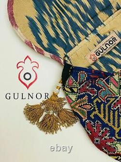 Bandoulière Embroidered Handbag Handbag Rabat Flat Silk Little Point