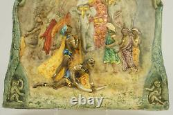 Bas Relief Ceramic Lachenal Art Nouveau, Vintage Ceramic, Pottery Art Deco